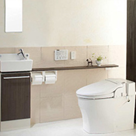 スッキリ・シンプルなタンクレストイレ