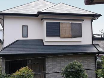 2階部分の外壁と屋根の塗装を施工していただきました。