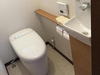 トイレの掃除が大変でしたが、掃除しやすくなりました。