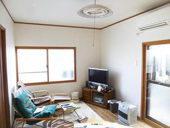 寒い和室が暖かなリビングになり、居心地のいい空間になりました。