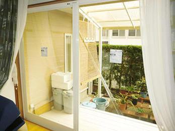 ペアガラスで断熱効果も上がり、快適なお部屋になりました。