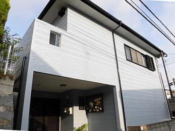 外壁は遮熱効果のある塗料を塗り、暑さから建物を守ります。