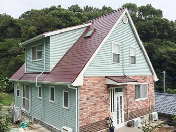 色鮮やかなお家になり、仕上がりにもご満足いただけました。