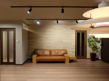 リフォーム後の間取りに合わせて家具造作したので、綺麗に納まった仕上がりになりました!本当に良かったです!