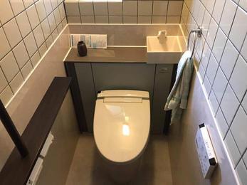タイル色に合わせてトイレを選び、統一感のある空間に!